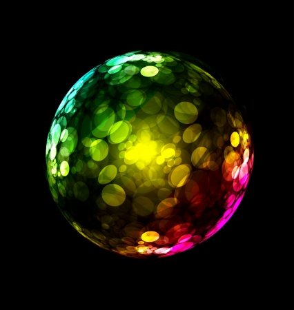 Three-dimensional colorful sphere design Vector