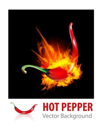 Brennender Chili Pepper