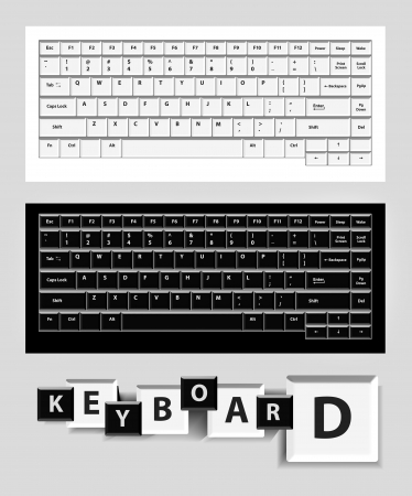 key board: White and black computer keys
