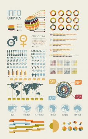 sales chart: Detail infographic vector illustration