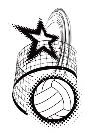 volleyball sport design element Stock Vector - 14888954