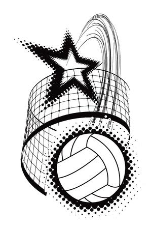 Volleyball-Sport-Design-Element Illustration