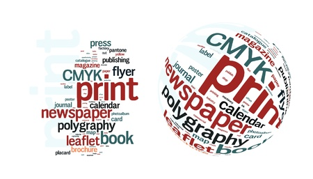 print media: Printing Word Cloud