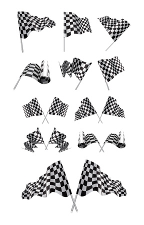 Checkered Flags set Stock Vector - 15050660