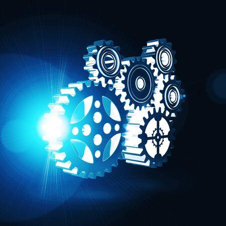 A engrenagem 3d mecanismo Imagens - 15732200