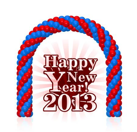 vector illustration of happy new year 2013 Vector