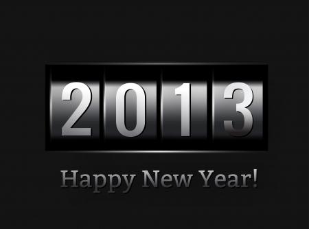 snake calendar: New Year counter 2013
