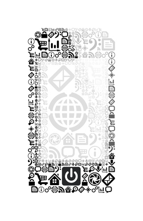 Mobile phone made of application icons Stock Vector - 16162862