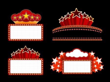 vedette de cin�ma: R�tro �clair� chapiteau Film Blank sign