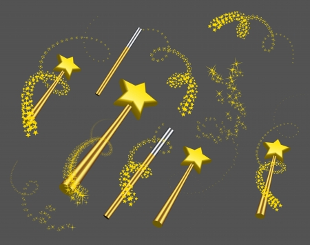 Magic wand set Vector