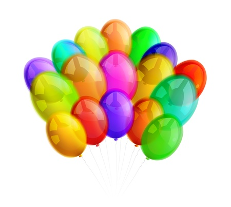 Multicolor balloons on white background Stock Vector - 16876520