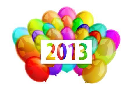 balloons 2013 Stock Vector - 16876522