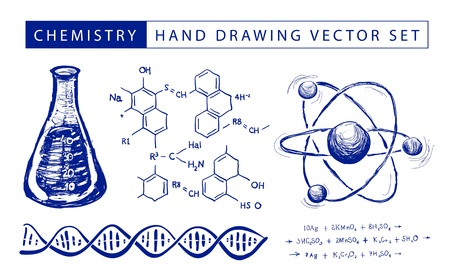 Chemistry hand drawing Vector