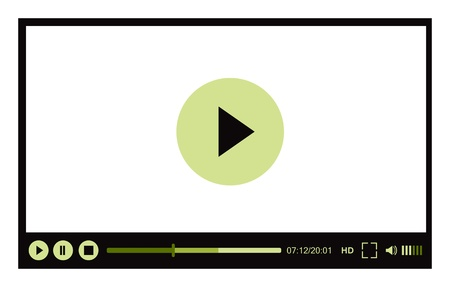 hd video: Video player for web Illustration