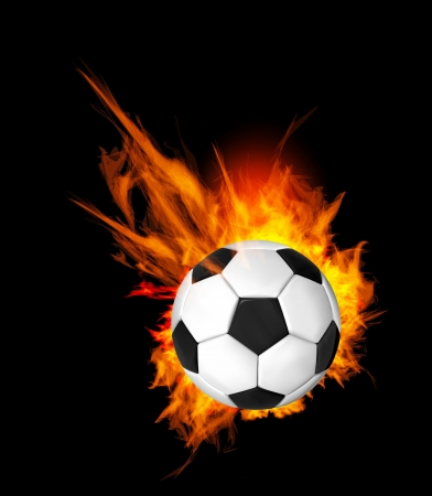 fireballs: Soccer Ball on Fire