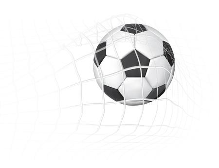 soccer net: Soccer Ball in the goal net  Illustration