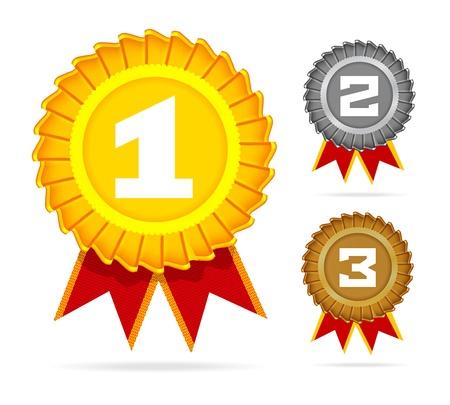 primer lugar: Oro, plata y bronce
