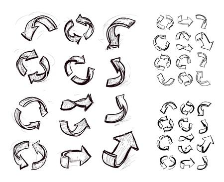 hand drawn arrows set Stock Vector - 18332863