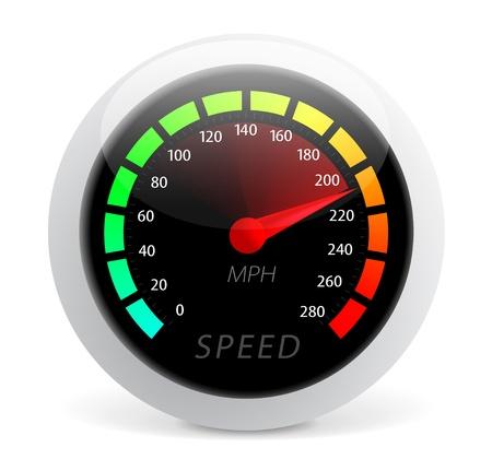 dashboard car: Speedometer illustration