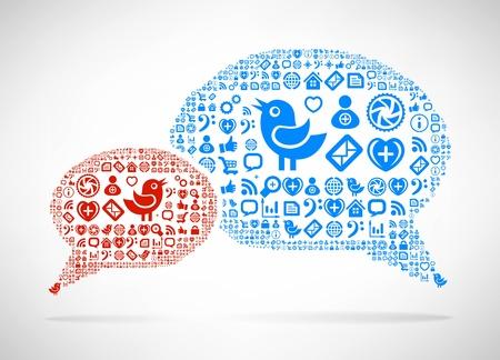Social Media concept Stock Vector - 18981485