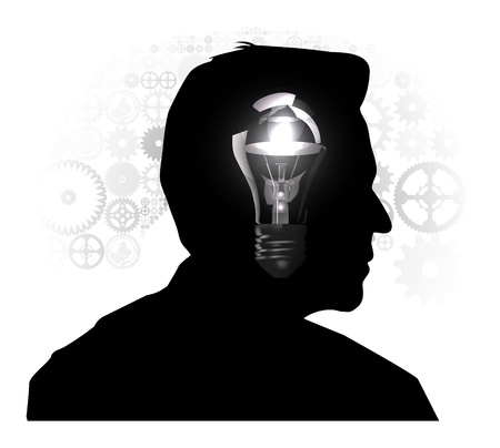 Silhouette of a man s head Stock Vector - 19095438