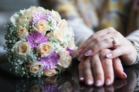 Hand with flowers Stock Photo - 19220885