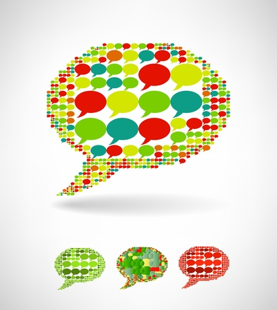Big speech bubble made from small bubbles Stock Vector - 19373176