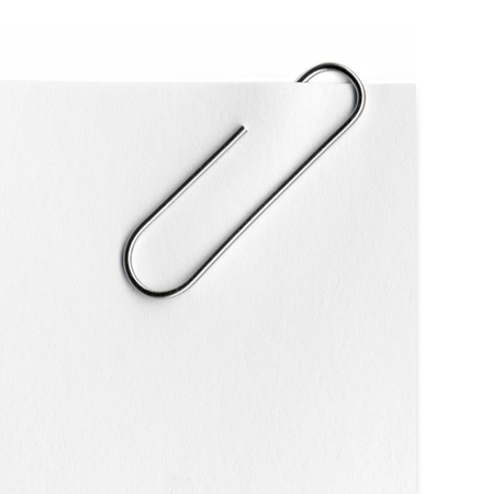 Scanned metal paper clip Stock Photo - 20095296