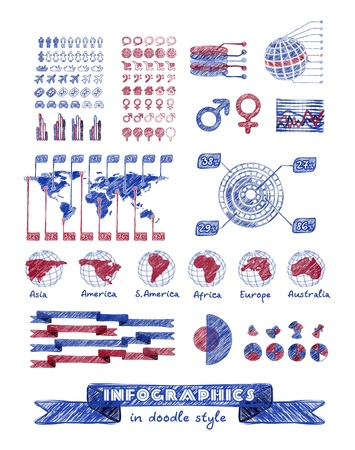 Infographics in doodle style Stock Vector - 20407903