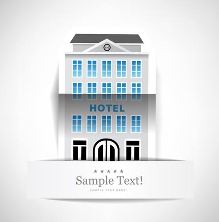 Das Gebäude des Hotels Lizenzfreie Bilder