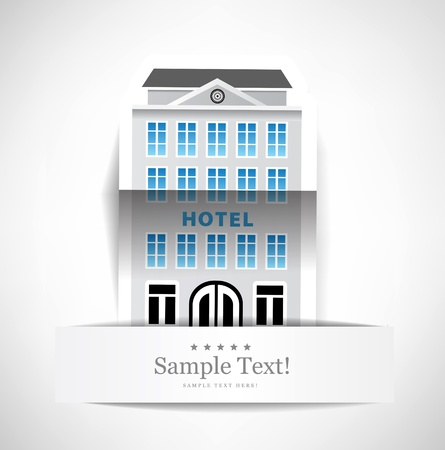 hotel icons: The building of hotel