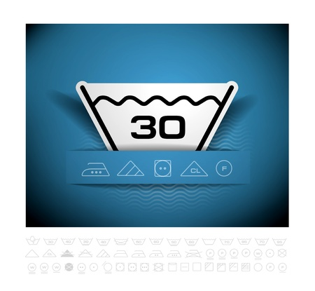 Washing symbol Stock Vector - 20882917
