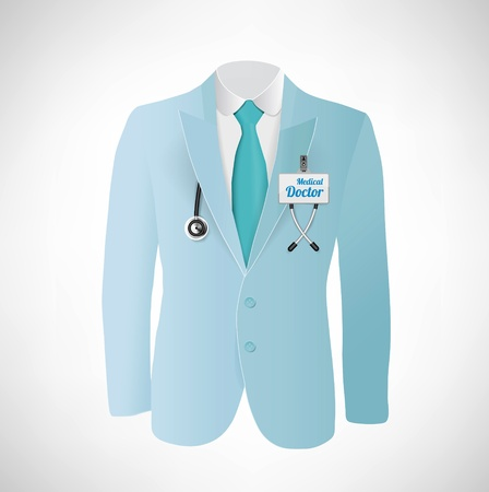 Close up of a doctors lab blue coat Stock Photo - 21151401