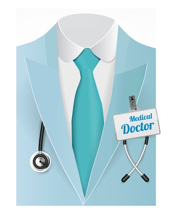 Close up of a doctors lab blue coat Stock Photo - 21151402