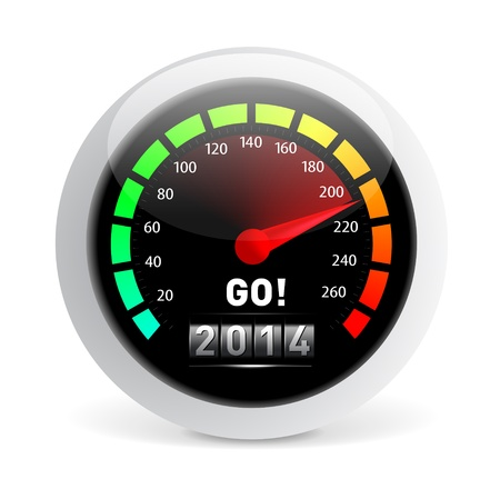 odometer: 2014 year Calendar speedometer car