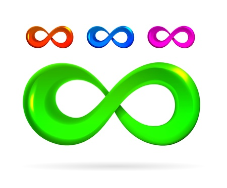mobius loop: The symbol of infinity on white background Illustration