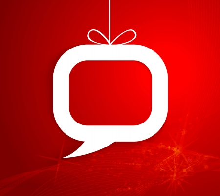 Christmas present in the form of speech Vector