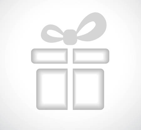 giftbox: Silhouette of a gift box with a bow. Place your text inside. Vector illustration