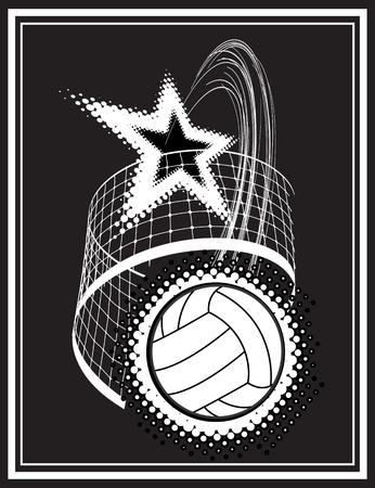 nets: volleyball sport over dotted background vector illustration