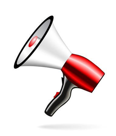 Loudspeaker or megaphone icon isolated on white background. Vector Stock Vector - 24231260