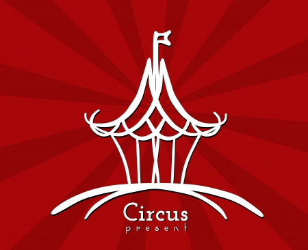 Sign circus in a drawing style Vector