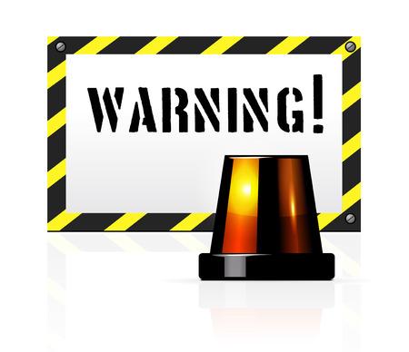 emergency lane: Vector warning background with flasher Illustration