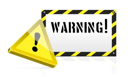 Warning background with an exclamation mark Vector
