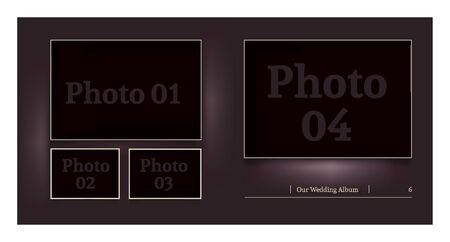 Wedding album design for the photographer. Put your photos into frames. photo