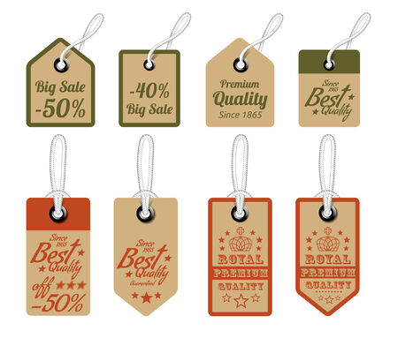 Vintage Style Sale Tags Design. Vector illustration