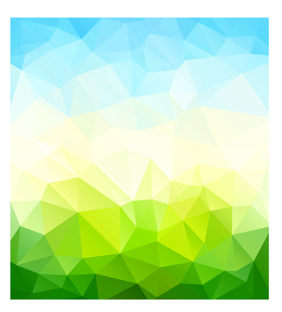 Triangle nature background. Vector illustration Vector