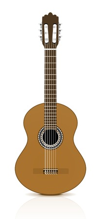 Classical guitar on white background.  Vector illustration Vector