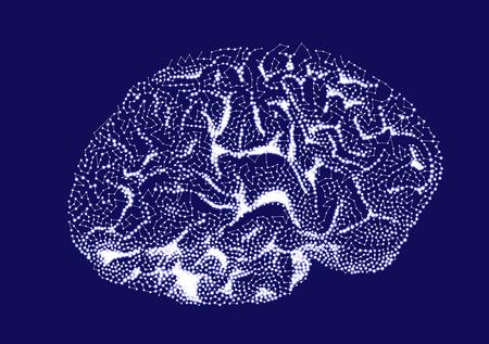 impulses: Brain impulses. Thinking prosess vector illustration