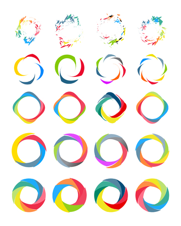 Color circle set vector illustation on white Vector
