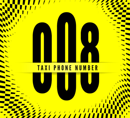 Business card taxi with phone number. Vector illustration Vector